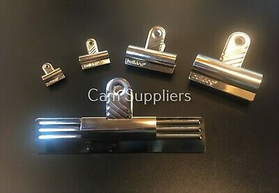 £1.85 • Buy Original Bulldog Silver Metal Grip Clip Letters Binder Paper Strong Clips Chrome