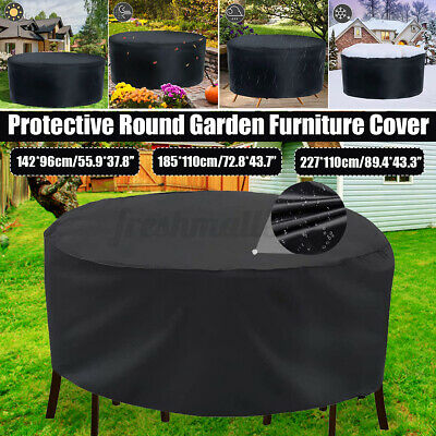 AU26.25 • Buy 3 Sizes Waterproof Round Furniture Cover Outdoor Garden Dust Rain Protection AU