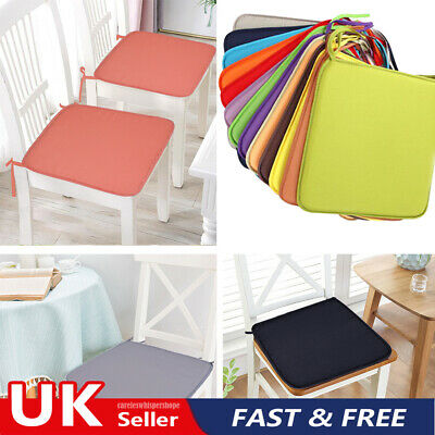 £11.26 • Buy 4 PCS Chair Seat Pads Cushions Dining Tie On Garden Furniture Patio Outdoor Uk