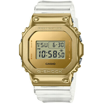 £151.95 • Buy Casio G-Shock 5600 Metal Covered Gold Clear Resin Digital Watch New GM5600SG-9
