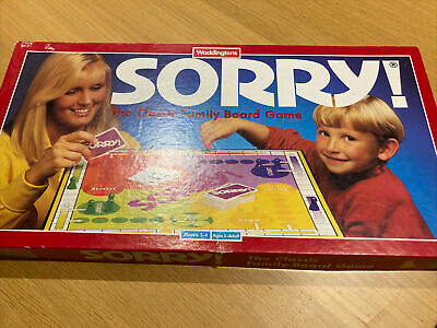 £14.50 • Buy Vintage Waddingtons SORRY! Classic Family Board Game 100% Complete 1994