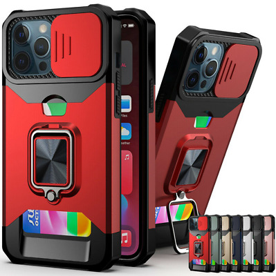 AU7.99 • Buy For IPhone 12 11 Pro X XS Max XR 8 7 Plus Case Card Holder Ring Stand Cover