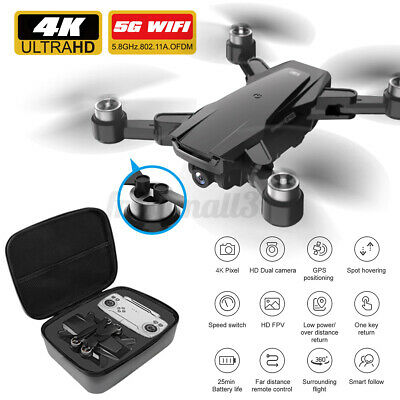 AU95.94 • Buy 5G 4K GPS+OFP Drone HD Camera Drones WiFi FPV Foldable RC Quadcopter Brushless