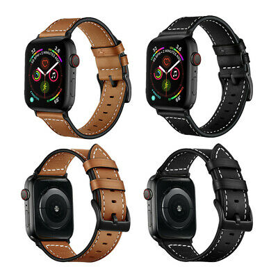 AU9.99 • Buy 44mm 42mm Apple Watch Band, Classic Leather Strap For IWatch SE 6 5 4 3 2 40/38