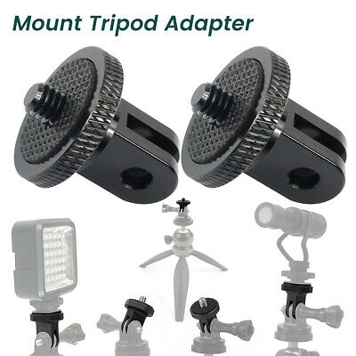 AU11.99 • Buy 2PC 1/4  Tripod Screw Adapter Aluminum Alloy Mount For GoPro Hero Action Cameras