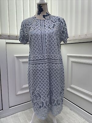 £14.99 • Buy Womens Next Size Uk 12 Baby Blue Lace Overlay Party Occasion Wear A Line Dress