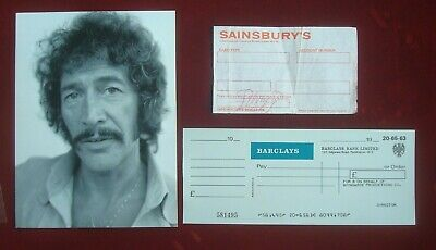 £19.99 • Buy Peter Wyngarde -jason King Autographed Receipt  Company Cheque  Press Photograph