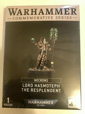 £45 • Buy Warhammer Necron Lord Hasmoteph The Resplendent Limited Edition SEALED OOP 40k
