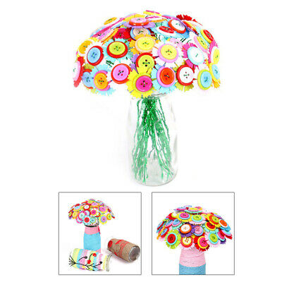 £4.93 • Buy 1 Set Of Button Bouquet DIY Early Learning Accessory For Children