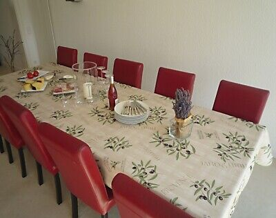 £26 • Buy Tablecloth Provence 150x300 CM Olives Cream From France Non-Iron