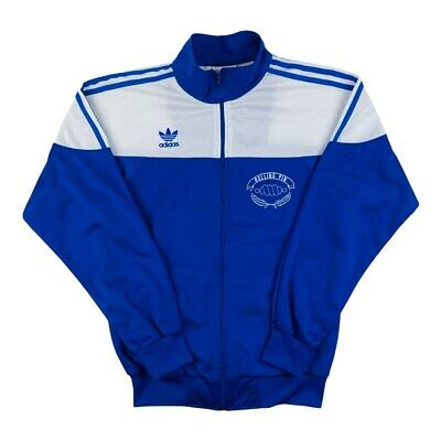 £29.99 • Buy Vintage 80's Adidas 'Rolling Pin' Track Top Jacket Blue Small Made In Taiwan