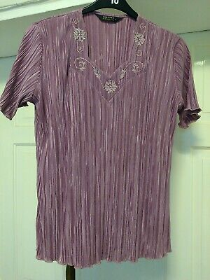 £7 • Buy Forever By Michael Gold Pink Blouse Size L