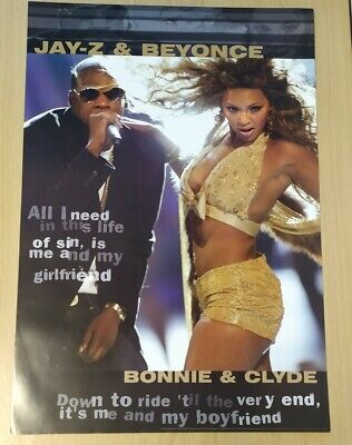 £2.82 • Buy Retro Deadstock Poster Music A1 Large Beyonce & Jay-Z Bonnie & Clyde Hip Hop