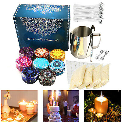 £25.29 • Buy Candle Making Kit Supplies DIY Craft Candles Making Wicks Wax Pouring Tool Gift