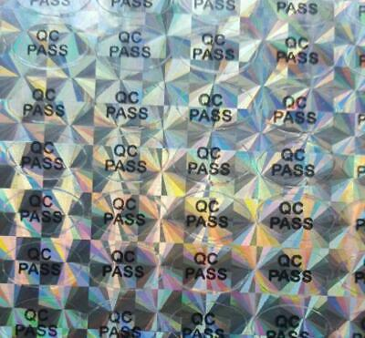 £3.99 • Buy QC Passed Hologram Stickers Oval Hologram Labels