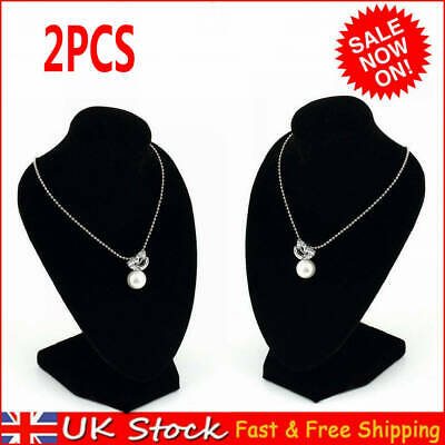 £9.98 • Buy 2X 15CM Tall Necklace Pendant Display Bust Jewellery Mannequin Stand Holder Rack