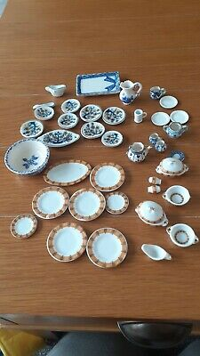 £4.99 • Buy Dolls House Dinning Room China Tea Pot /plates/bowls 1/12th Scale