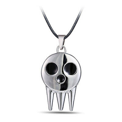 £3.51 • Buy Anime Soul Eater Not Death The Kid Skull Logo Pendant Necklace Cosplay Prop