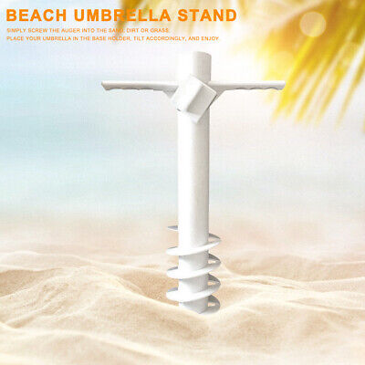 AU17.95 • Buy Portable With 5-Tier Screw Ground Beach Umbrella Stand ABS Sand Anchor Parasol.