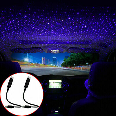 £6.98 • Buy 2x Car Accessories Interior USB Atmosphere Star Sky Lamp Ambient Night Lights UK
