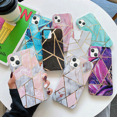 AU4.91 • Buy Galvanized Marble Soft Back Case Cover For IPhone 13 Pro Max SE 2 XS XR 8 7 Plus