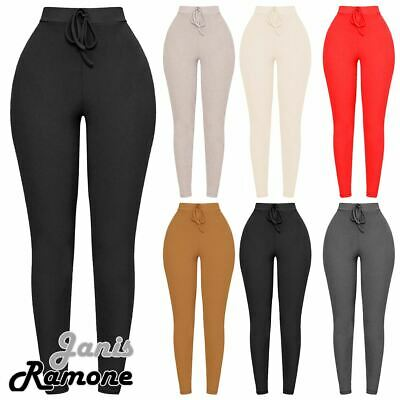 £6.99 • Buy Womens High Waist Ribbed Leggings Stretchy Gym Yoga Fitness Skinny Pant Trousers
