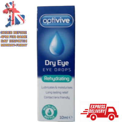 £3.20 • Buy Optivive Dry Eye Rehydrating Eye Drops Suitable For Contact Lenses UK STOCK