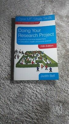 £3 • Buy Doing Your Research Project - Fifth Edition - Judith Bell - Very Good Condition.