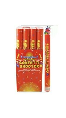£7.50 • Buy Confetti Shooter Multi Colour Biodegradable 50cm Compressed Air Cannon Party