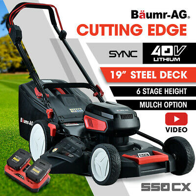 AU599 • Buy 【EXTRA10%OFF】BAUMR-AG 40V 19  Cordless Lawn Mower Kit Battery Operated
