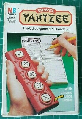 £5.99 • Buy YAHTZEE Travel Game MB 1983 Ages 8-Adult 2 Or More Players