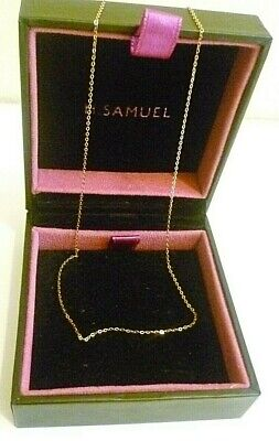 £44.99 • Buy H.SAMUEL SOLID 9CT YELLOW GOLD FINE TRACE CHAIN NECKLACE Not Scrap 1mm 18  0.54g