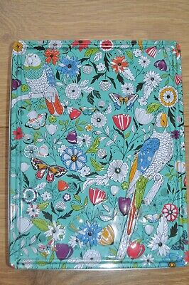 £6 • Buy Vintage Blue Biscuit Tin With Embossed Flowers Butterflies Sewing Haberdashery