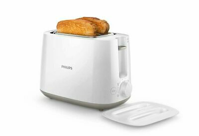 £49.14 • Buy Philips Toaster 2-Slice Pop-up Integrated Bun Rack 8 Browning Settings ( White )
