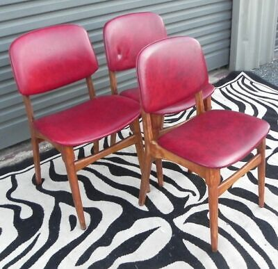 AU300 • Buy Mid Century Modern Vintage Chatley Production X 3 Dinning Chairs