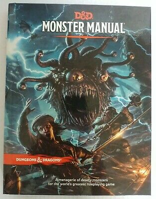 AU40 • Buy Preowned Dungeons & Dragons 5th Edition 5e Monster Manual (Hardcover)