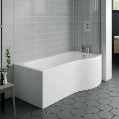 £239.99 • Buy Right Hand P Shaped Bath 1500mm X 850mm With Front Panel & Shower Screen