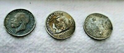 £1.50 • Buy 3 X King George V Silver Sixpence  6d , All In Used Condition