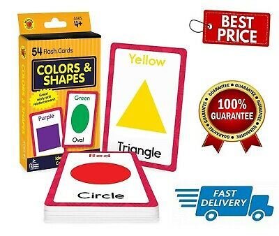 £3.77 • Buy Baby Book Colors Shapes Picture Flash Cards Kids Educational Pre School Learning