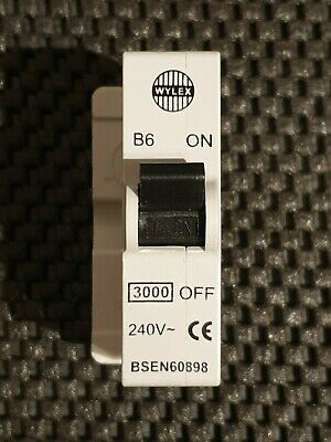 £22.95 • Buy Wylex B6 Replacement Mcb For Old Rewirable Type Fuses * New Condition *