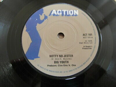 £2 • Buy Big Youth-notty No Jester-great Audio-action-act 101-vg+ 7  Vinyl Single 1975