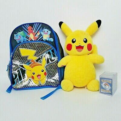 $67.50 • Buy Pikachu Build A Bear With Voice Box Kids Backpack Pokemon Cards With Case