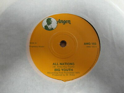 £2 • Buy BIG YOUTH-ALL NATIONS-SUPERB AUDIO-ANGEN ANG 103-7  45rpm VINYL SINGLE-EX 1975
