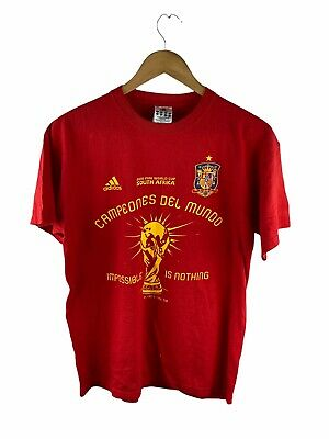 £26.50 • Buy VINTAGE 2010 FIFA World Cup South Africa T Shirt Mens Size M Red Spain Football
