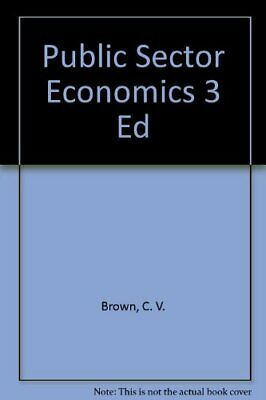 £6.99 • Buy Public Sector Economics 3 Ed By Jackson, Peter Microfilm Book The Cheap Fast