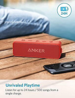 AU74.50 • Buy Anker Wireless Speakers Soundcore 2 Portable Bluthooth IPx7 24-Hour Playtime