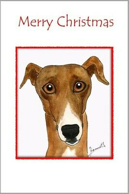£3.40 • Buy 3249 Dianne Heap Christmas Card Greyhound Whippet Lurcher Dogs Painting Art Xmas