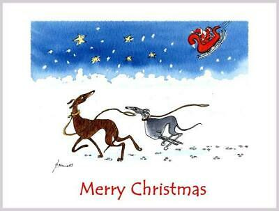 £3.40 • Buy 3183 Dianne Heap Christmas Card Greyhound Whippet Lurcher Dogs Painting Art Xmas