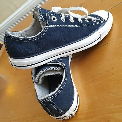 £14.99 • Buy All Star Converse Blue Suede Double Tongue Trainers Shoes Pumps Size Uk7