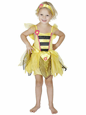 £8.95 • Buy Bumble Bee Honey Fairy Tale Insect Story Book Week Girls Costume 3-5